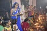 भक्तिभाव से मां ब्रह्मचारिणी की हुई पूजा