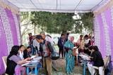 योगदा आश्रम में स्वास्थ्य शिविर में सैकड़ों का हुआ उपचार