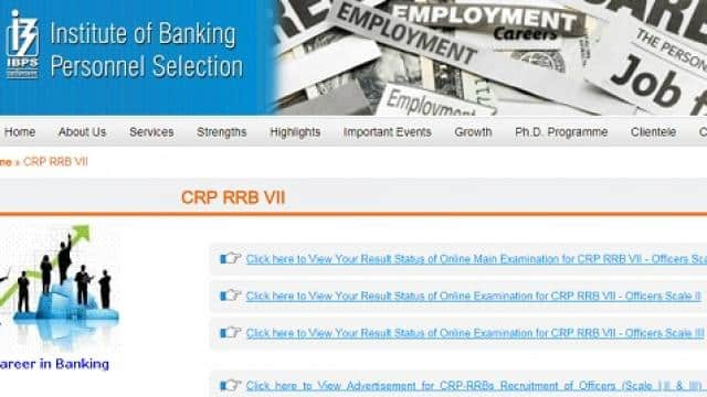 IBPS RRB officer scale 1, 2 and 3 Mains Result 2018 declared