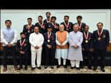 PM and Sports Ministers with Medal Winners of Asian Para Games 2018.jpg (Photo: PMO Twitter Handle)