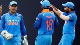 MS Dhoni, Virat Kohli and Rohit Sharma