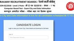 RRB Group D exam date 2018, city, shift details released