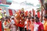 छोटा रजबन बाजार से निकाली मां दुर्गा की शोभायात्रा
