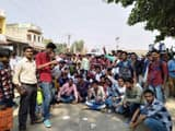 protest and bycott of exam by ITI students in jamui