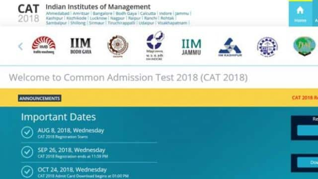 CAT 2018 Admit Card now available for download @ iimcat.ac.in