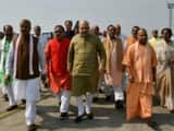 Amit Shah in Lucknow