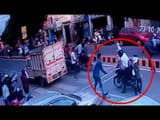 Student beating Professor in Meerut