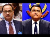 CBIchief Alok Verma (left) and his deputy Rakesh Asthana were divested of their responsibilities on