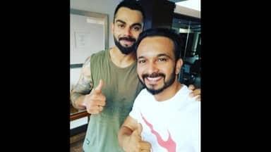 Virat Kohli and Kedar Jadhav