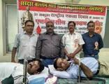 पटेल महापरिवार ने 75 यूनिट किया रक्तदान