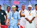 राहुल गांधी, ज्योतिरादित्य सिंधिया दिग्विजय सिंह (फोटो-PTI)