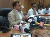डीजीपी ओपी सिंह प्रेस कॉन्फ्रेंस करते हुए