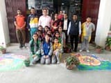 स्कूलों में धूमधाम से मना दीपावली पर्व