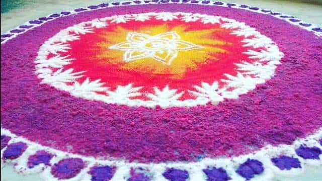 latest rangoli design, rangoli for diwali