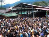 Protests erupted in Sabarimala temple in Kerala's Pathanamthitta on Tuesday after a woman reached ne