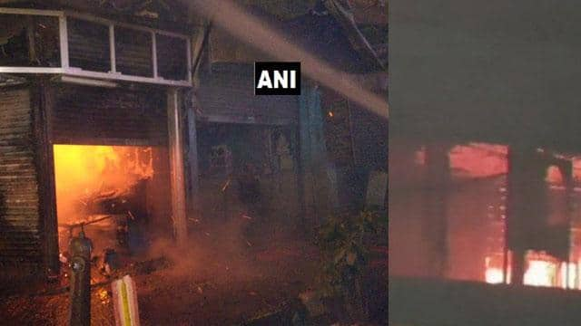 Fire on several places on Diwali Evening (ANI Twitter Pic)