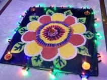 Rangoli design for diwali 2019: आज दिवाली पर बनाएं ऐसे रंगोली डिजाइन