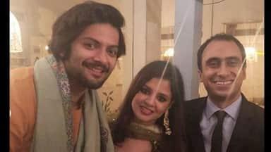 Ali Fazal and Sakshi Dhoni