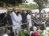 Congress vice president Rahul Gandhi interacts with the people at Madanpur village chaupal, in Korba