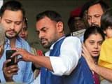 Former Bihar deputy chief minister Tejashwi Prasad Yadav, his sister Ragini and brother-in-law Rahul