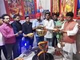 महाआरती के बहाने मंदिर हटाने का विरोध