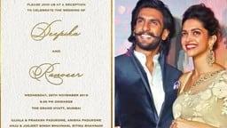 Deepika Ranveer Wedding ः शादी से पहले वायरल हुआ दीपिका-रणवीर का रिसेप्शन कार्ड, इस दिन होगी ग्रैंड पार्टी