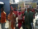 पौड़ी में नीलम ने समर्थकों के साथ निकाली रैली
