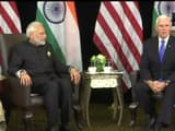 Bilateral Talks between PM Modi and American Vice Persident Michael Pence (ANI Twitter Pic)