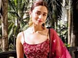 Alia Bhatt's fancy Sabyasachi kurta and gharara would look great at any wedding. (Instagram)