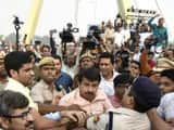 Manoj Tiwari allegedly got into a scuffle with AAP members and police at the inaugural event of the