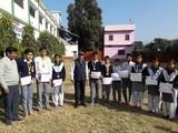 राष्ट्रीय स्तर की एथलेटिक प्रतियोगिता में चयनित छात्रों को सम्मानित किया