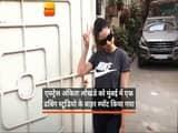 एक्ट्रेस अंकिता लोखंडे को मुंबई में एक डबिंग स्टूडियो के बाहर स्पॉट किया गया