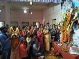 मां जगद्धात्री की बंगाली विधि-विधान से हुई पूजा-अर्चना