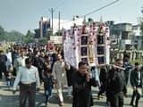 रामपुर शहर से निकला चुपताजिए का जुलूस