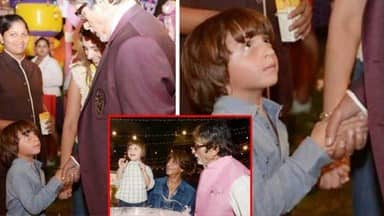 Amitabh Bachchan, AbRam, Shahrukh Khan son, Aaradhya birthday party,