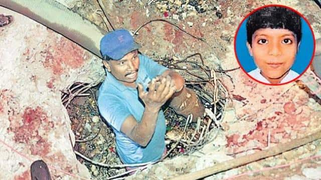 10 year old Boy deepak falls into sewer in Patna