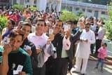 दोपहर बाद वोट डालने के लिए निकले शिवालिक नगर के मतदाता
