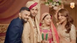 Virat Kohli and Anushka Sharma in Manyavar Mohey ad