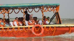 after inauguration of boat tourism Deputy CM sushil modi said that bhagalpur become Second eco touri