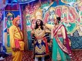 कांडा की रामलीला में राजा हरिश्चंद्र नाटक का मंचन