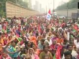 farmers across the state marching towards Azad Maidan in Mumbai