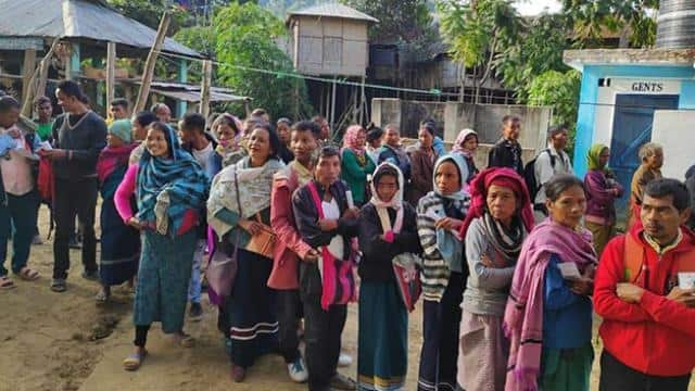 Madhya Pradesh election and mizoram election 2018: people cast there votes at Polling booth