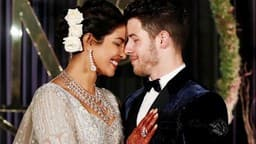 Priyanka Chopra and Nick Jonas Delhi wedding reception pics