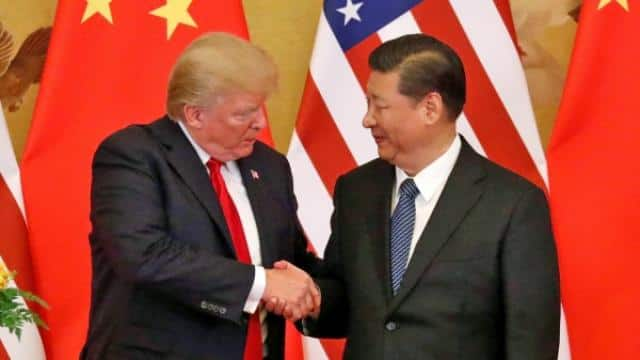 US president Donald Trump with Chinese counterpart Xi jinping (File Pic)