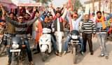 बाजपुर में विहिप ने निकाली भगवा रैली