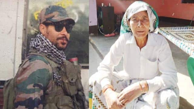 Army soldier Jeetu and his mother