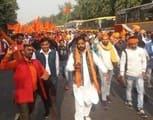 राम मंदिर हर हाल में बनकर रहेगा ,दिल्ली  में दिखा जोश