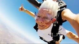 102 grandma jumps form 14000 feet height