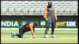 Indian Captain Virat Kohli inspecting Perth Pitch on the eve of 2nd Test Match.jpg (Photo: BCCI)