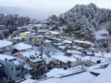 Snowfall in Mussoorie